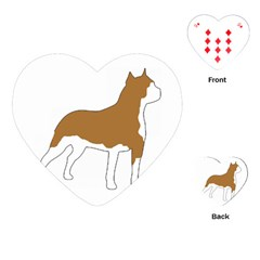 American Staffordshire Terrier  Silo Color Playing Cards (Heart)