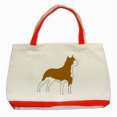 American Staffordshire Terrier  Silo Color Classic Tote Bag (Red)