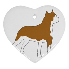 American Staffordshire Terrier  Silo Color Heart Ornament (Two Sides)