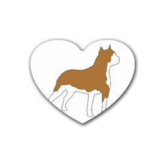 American Staffordshire Terrier  Silo Color Rubber Coaster (Heart)