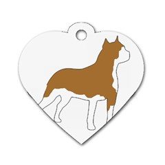 American Staffordshire Terrier  Silo Color Dog Tag Heart (Two Sides)