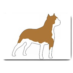 American Staffordshire Terrier  Silo Color Large Doormat