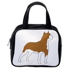 American Staffordshire Terrier  Silo Color Classic Handbags (One Side)