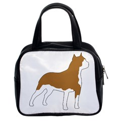 American Staffordshire Terrier  Silo Color Classic Handbags (2 Sides)