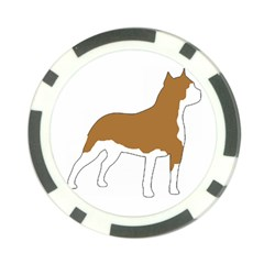 American Staffordshire Terrier  Silo Color Poker Chip Card Guard (10 pack)