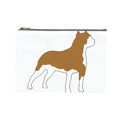 American Staffordshire Terrier  Silo Color Cosmetic Bag (Large)