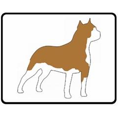 American Staffordshire Terrier  Silo Color Fleece Blanket (Medium)