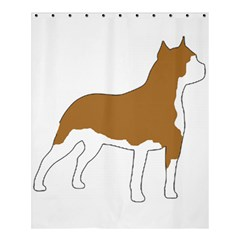 American Staffordshire Terrier  Silo Color Shower Curtain 60  x 72  (Medium)