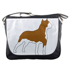 American Staffordshire Terrier  Silo Color Messenger Bags