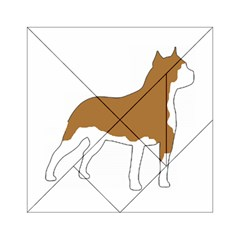 American Staffordshire Terrier  Silo Color Acrylic Tangram Puzzle (6  x 6 )