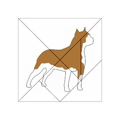 American Staffordshire Terrier  Silo Color Acrylic Tangram Puzzle (4  x 4 )