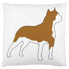American Staffordshire Terrier  Silo Color Large Cushion Case (Two Sides)