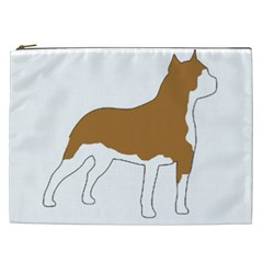American Staffordshire Terrier  Silo Color Cosmetic Bag (XXL)