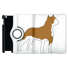 American Staffordshire Terrier  Silo Color Apple iPad 3/4 Flip 360 Case