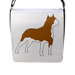 American Staffordshire Terrier  Silo Color Flap Messenger Bag (L)