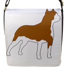 American Staffordshire Terrier  Silo Color Flap Messenger Bag (S)