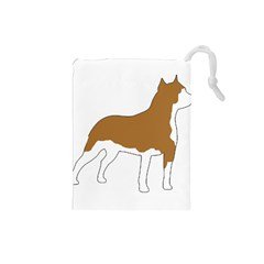 American Staffordshire Terrier  Silo Color Drawstring Pouches (Small)