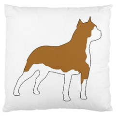 American Staffordshire Terrier  Silo Color Large Flano Cushion Case (Two Sides)