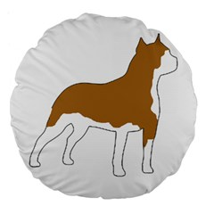 American Staffordshire Terrier  Silo Color Large 18  Premium Flano Round Cushions