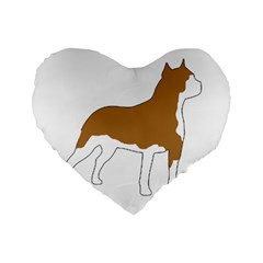 American Staffordshire Terrier  Silo Color Standard 16  Premium Flano Heart Shape Cushions