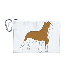 American Staffordshire Terrier  Silo Color Canvas Cosmetic Bag (M)