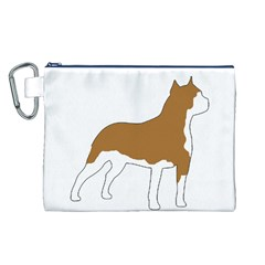 American Staffordshire Terrier  Silo Color Canvas Cosmetic Bag (L)