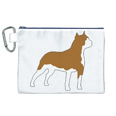 American Staffordshire Terrier  Silo Color Canvas Cosmetic Bag (XL)
