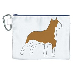 American Staffordshire Terrier  Silo Color Canvas Cosmetic Bag (XXL)