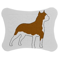American Staffordshire Terrier  Silo Color Jigsaw Puzzle Photo Stand (Bow)