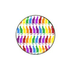 Rainbow Colorful Cats Wallpaper Pattern Hat Clip Ball Marker (4 Pack)