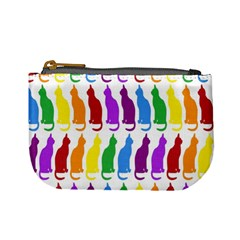 Rainbow Colorful Cats Wallpaper Pattern Mini Coin Purses