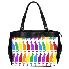 Rainbow Colorful Cats Wallpaper Pattern Office Handbags (2 Sides)