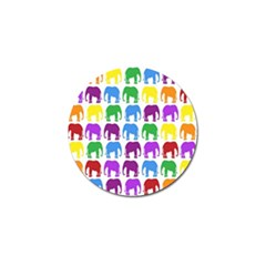 Rainbow Colors Bright Colorful Elephants Wallpaper Background Golf Ball Marker (10 pack)