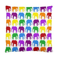 Rainbow Colors Bright Colorful Elephants Wallpaper Background Standard Cushion Case (One Side)