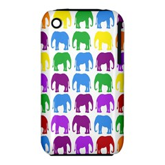 Rainbow Colors Bright Colorful Elephants Wallpaper Background iPhone 3S/3GS