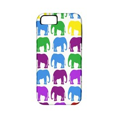 Rainbow Colors Bright Colorful Elephants Wallpaper Background Apple Iphone 5 Classic Hardshell Case (pc+silicone)