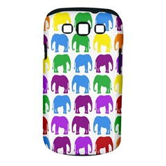 Rainbow Colors Bright Colorful Elephants Wallpaper Background Samsung Galaxy S Iii Classic Hardshell Case (pc+silicone)