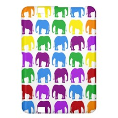 Rainbow Colors Bright Colorful Elephants Wallpaper Background Kindle Fire HD 8.9
