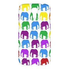 Rainbow Colors Bright Colorful Elephants Wallpaper Background Samsung Galaxy S4 I9500/I9505 Hardshell Case