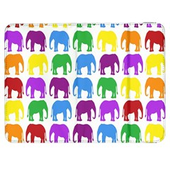 Rainbow Colors Bright Colorful Elephants Wallpaper Background Samsung Galaxy Tab 7  P1000 Flip Case