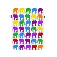 Rainbow Colors Bright Colorful Elephants Wallpaper Background Apple iPad 2/3/4 Protective Soft Cases