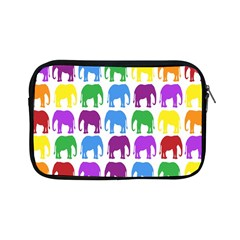 Rainbow Colors Bright Colorful Elephants Wallpaper Background Apple iPad Mini Zipper Cases