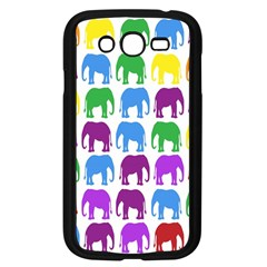 Rainbow Colors Bright Colorful Elephants Wallpaper Background Samsung Galaxy Grand DUOS I9082 Case (Black)