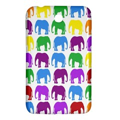 Rainbow Colors Bright Colorful Elephants Wallpaper Background Samsung Galaxy Tab 3 (7 ) P3200 Hardshell Case