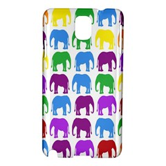 Rainbow Colors Bright Colorful Elephants Wallpaper Background Samsung Galaxy Note 3 N9005 Hardshell Case