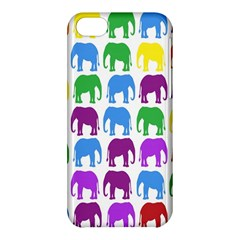 Rainbow Colors Bright Colorful Elephants Wallpaper Background Apple iPhone 5C Hardshell Case