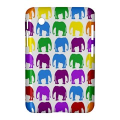 Rainbow Colors Bright Colorful Elephants Wallpaper Background Samsung Galaxy Tab 2 (7 ) P3100 Hardshell Case