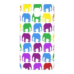 Rainbow Colors Bright Colorful Elephants Wallpaper Background Samsung Galaxy Note 3 N9005 Hardshell Back Case