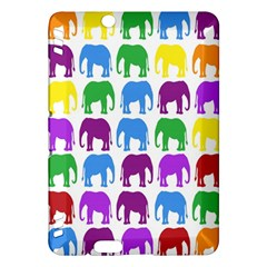 Rainbow Colors Bright Colorful Elephants Wallpaper Background Kindle Fire Hdx Hardshell Case