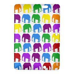 Rainbow Colors Bright Colorful Elephants Wallpaper Background Kindle Fire HDX 8.9  Hardshell Case